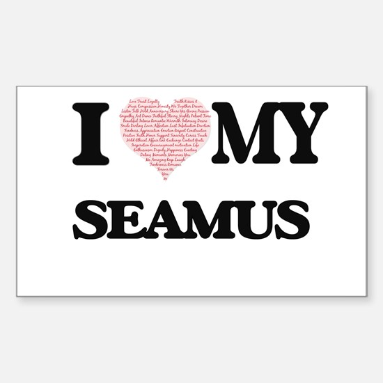 I Love my Seamus (Heart Made from Love my Decal