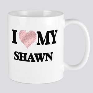 I Love my Shawn (Heart Made from Love my word Mugs