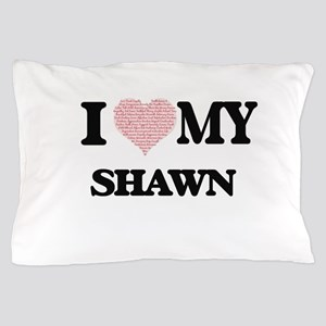 I Love my Shawn (Heart Made from Love Pillow Case