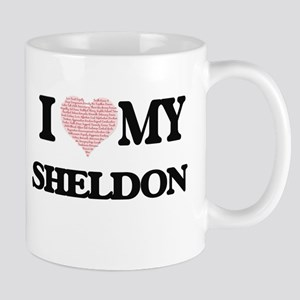 I Love my Sheldon (Heart Made from Love my wo Mugs