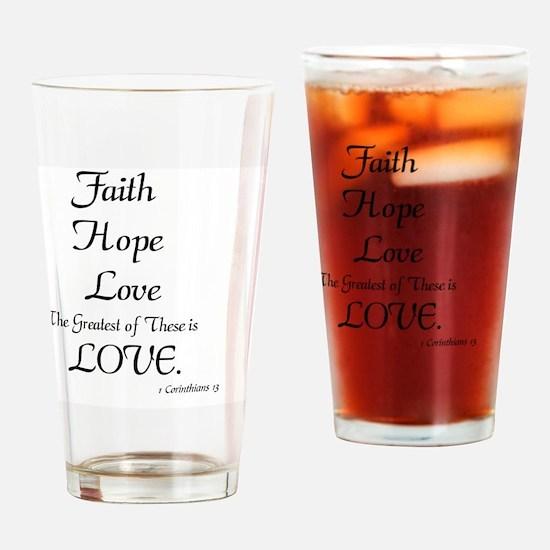 Unique Faith hope Drinking Glass