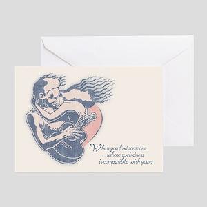 Blues Angel Greeting Card