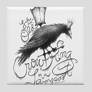 Crow King Tile Coaster