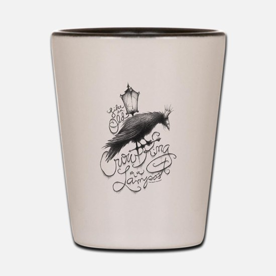 Crow King Shot Glass