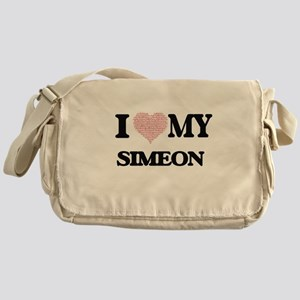 I Love my Simeon (Heart Made from Lo Messenger Bag