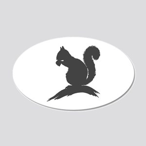 Gray Squirrel Silhouette Wall Decal