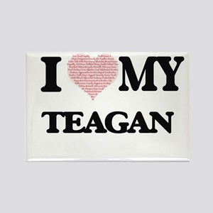 I Love my Teagan (Heart Made from Love my Magnets