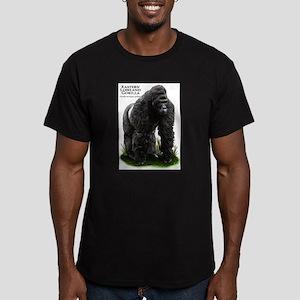 Eastern Lowland Gorill Men's Fitted T-Shirt (dark)