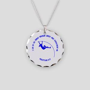 Pole Vault Necklace Circle Charm