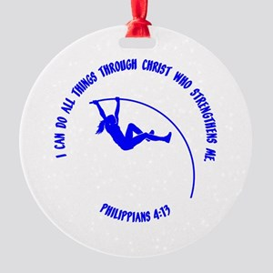 POLE VAULT Round Ornament