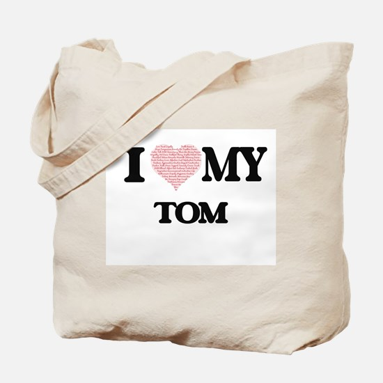 I Love my Tom (Heart Made from Love my wo Tote Bag