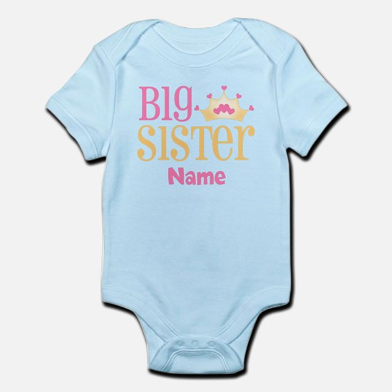 Big Sister Princess Crown Personalized Body Suit