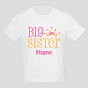 Big Sister Princess Crown Personalized T-Shirt