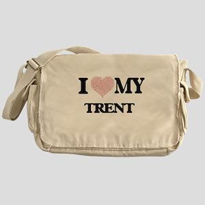I Love my Trent (Heart Made from Lov Messenger Bag