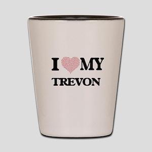 I Love my Trevon (Heart Made from Love Shot Glass