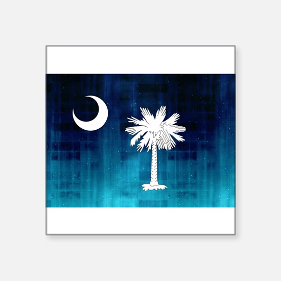 "Cute South carolina Square Sticker 3"" x 3"""