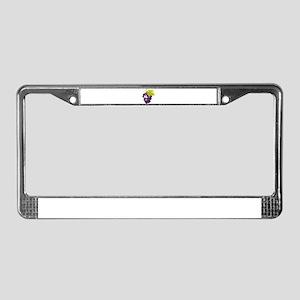 Cute Smiling Cartoon Grapes License Plate Frame