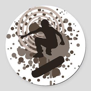 skateboard graphic Round Car Magnet