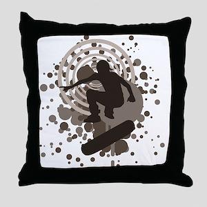 skateboard graphic Throw Pillow
