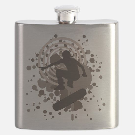 skateboard graphic Flask