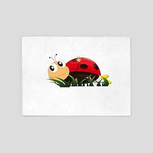 Cute Cartoon Ladybird 5'x7'Area Rug