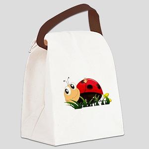 Cute Cartoon Ladybird Canvas Lunch Bag