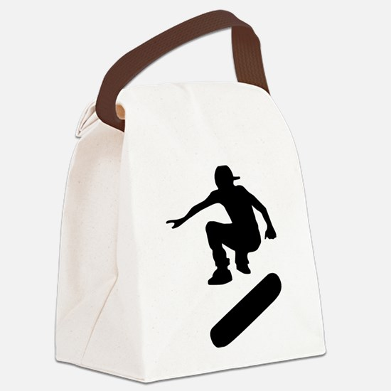 skateboard silhouette Canvas Lunch Bag