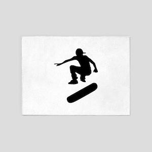 skateboard silhouette 5'x7'Area Rug