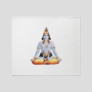 Krishna Lotus Muscle Throw Blanket
