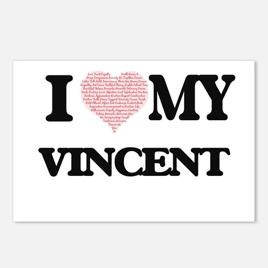 I Love my Vincent (Heart Postcards (Package of 8)