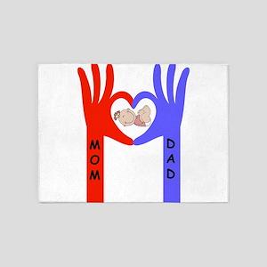 Baby love hands 5'x7'Area Rug