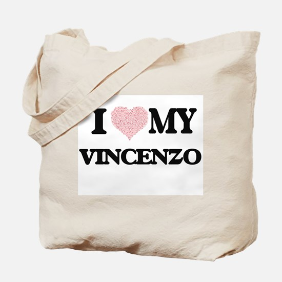 I Love my Vincenzo (Heart Made from Love Tote Bag