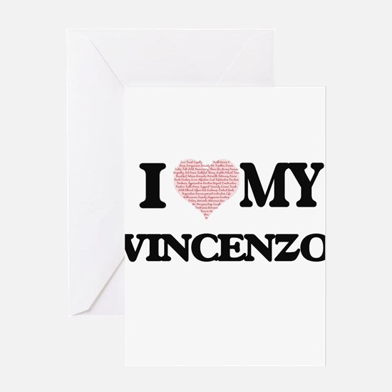 I Love my Vincenzo (Heart Made from Greeting Cards