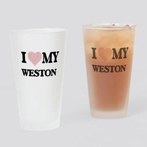 I Love my Weston (Heart Made from L Drinking Glass