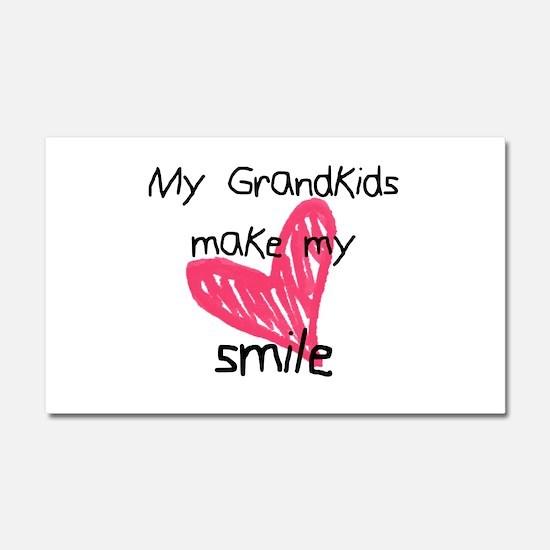 Grandkids make my heart smile Car Magnet 20 x 12
