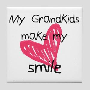 Grandkids make my heart smile Tile Coaster