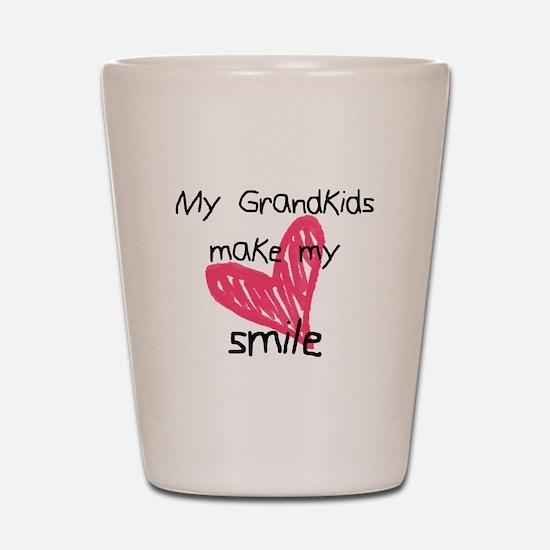 Grandkids make my heart smile Shot Glass