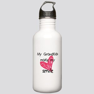 Grandkids make my heart smile Water Bottle