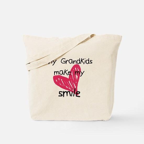 Grandkids make my heart smile Tote Bag