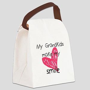 Grandkids make my heart smile Canvas Lunch Bag