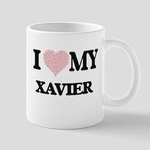 I Love my Xavier (Heart Made from Love my wor Mugs
