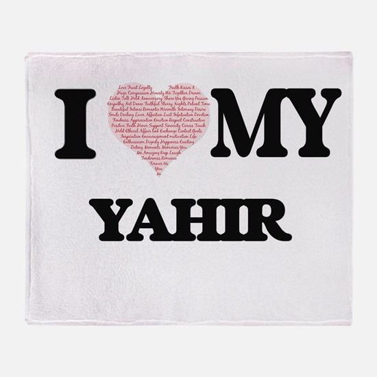 I Love my Yahir (Heart Made from Lov Throw Blanket