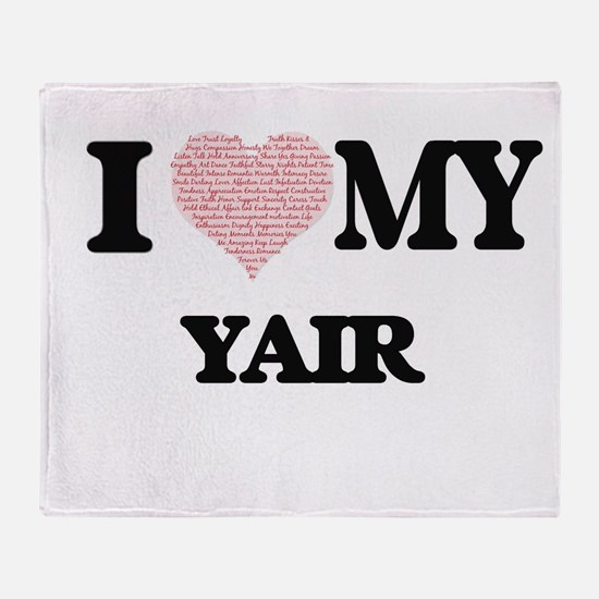 I Love my Yair (Heart Made from Love Throw Blanket