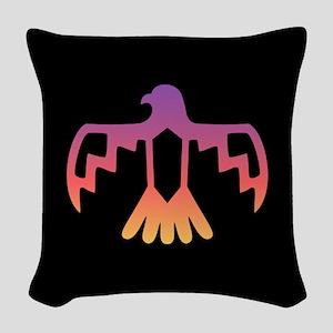 Sunset Thunderbird Woven Throw Pillow
