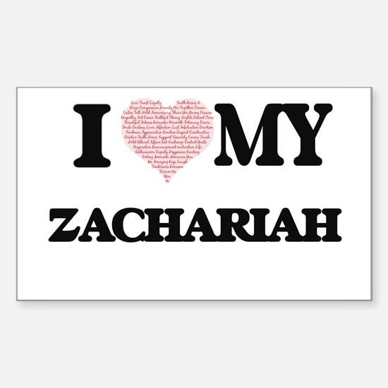 I Love my Zachariah (Heart Made from Love Decal