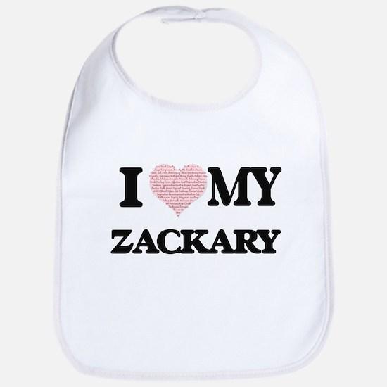 I Love my Zackary (Heart Made from Love my wor Bib