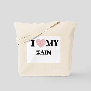 I Love my Zain (Heart Made from Love my w Tote Bag