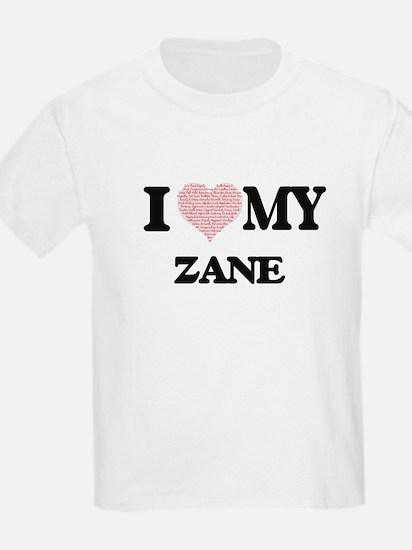 I Love my Zane (Heart Made from Love my wo T-Shirt