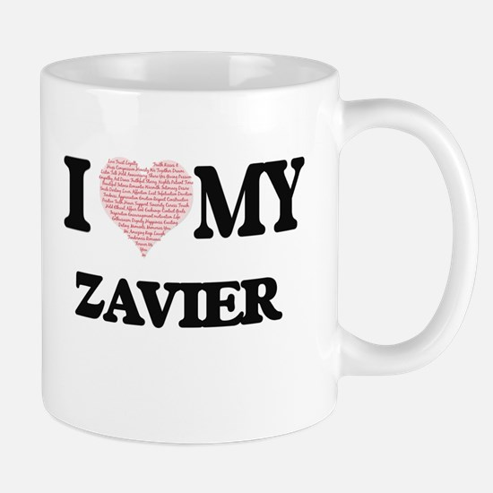 I Love my Zavier (Heart Made from Love my wor Mugs