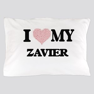 I Love my Zavier (Heart Made from Love Pillow Case